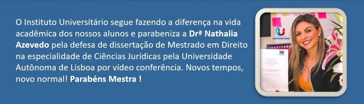 Mestra Nathália Azevedo