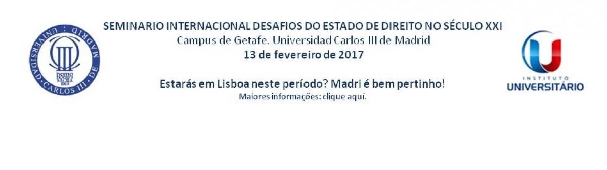 SEMINARIO INTERNACIONAL DESAFIOS DO ESTADO DE DIREITO NO SÉCULO XXI